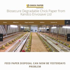 Biosecure degradable chick paper from Kandco Envosave Ltd