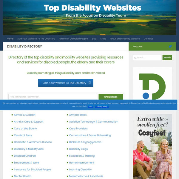 Top Disability Websites Directory