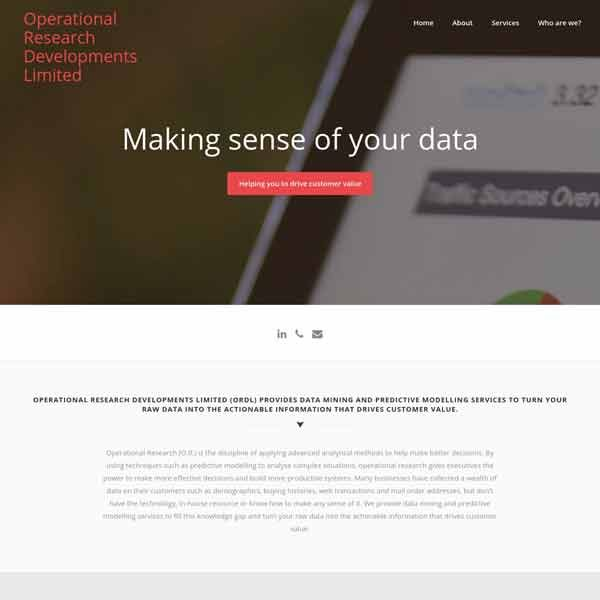 Operational Research Developments Limited (ORDL)
